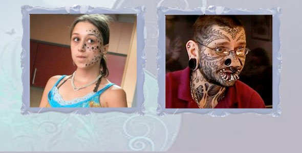 Teen Gets 56 Tattoos on Face, Asked for 3