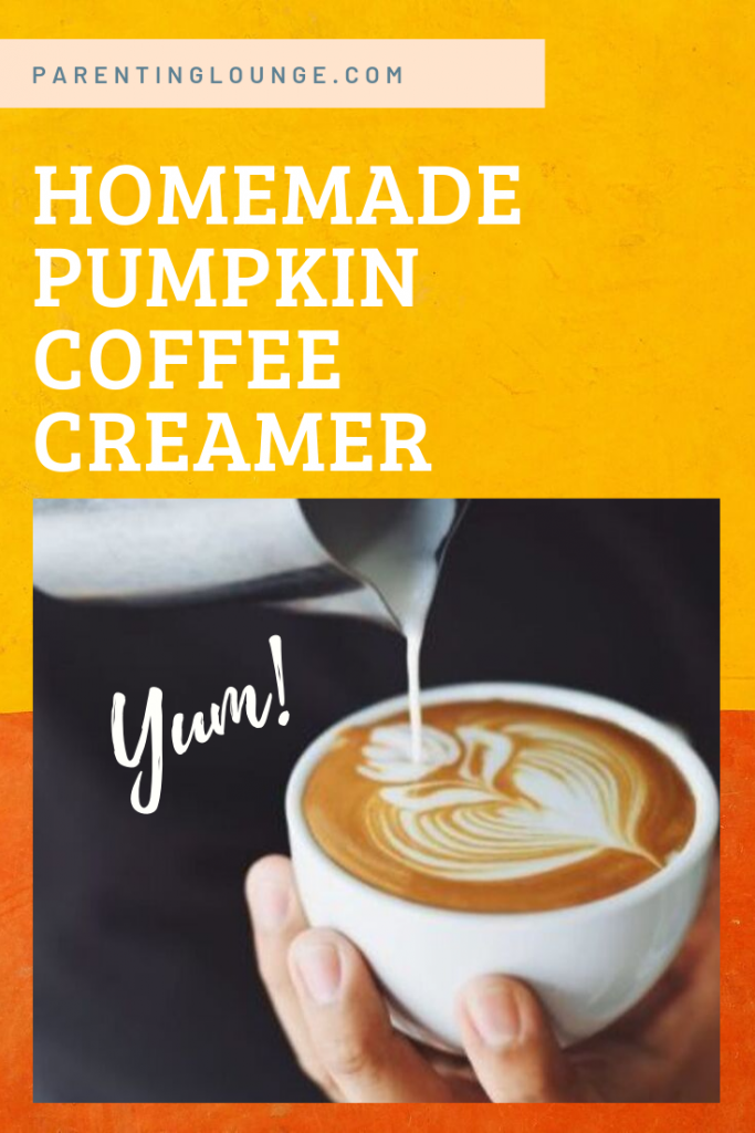 homemade diy pumpkin coffee creamer